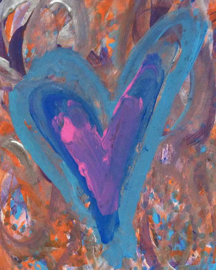 Heart Painting - Hope Rises by Bethany Stanko