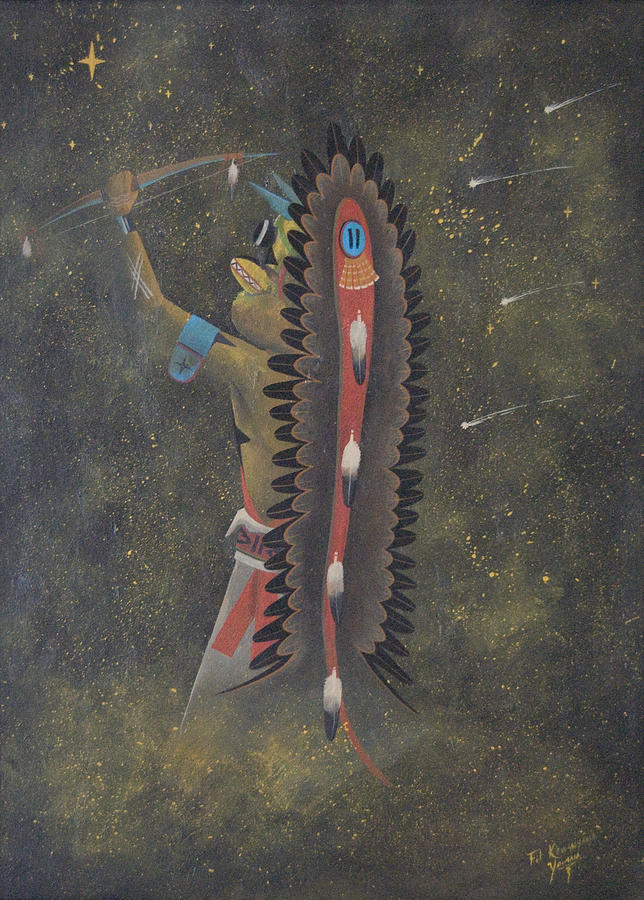 Hopi_acknowledge My Relations Painting by Filmer Kewanyama