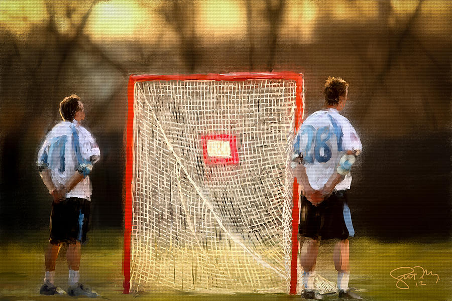 Johns Hopkins Painting - Hopkins Lacrosse Tradition by Scott Melby