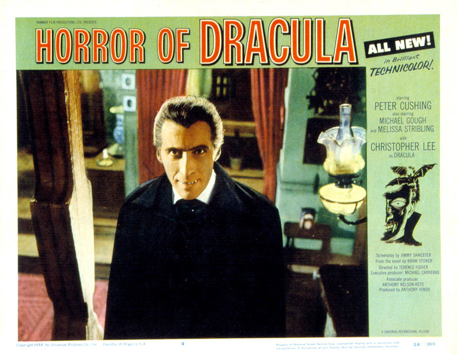 1958 Movies Photograph - Horror Of Dracula, Christopher Lee, 1958 by Everett