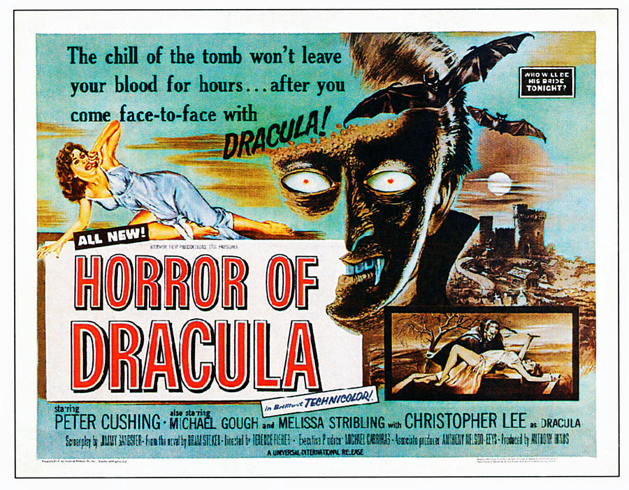 1950s Poster Art Photograph - Horror Of Dracula, Poster Art, 1958 by Everett