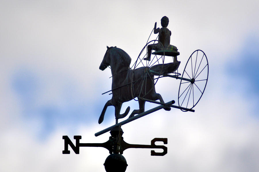 Horse Photograph - Horse And Buggy Weather Vane by Bill Cannon