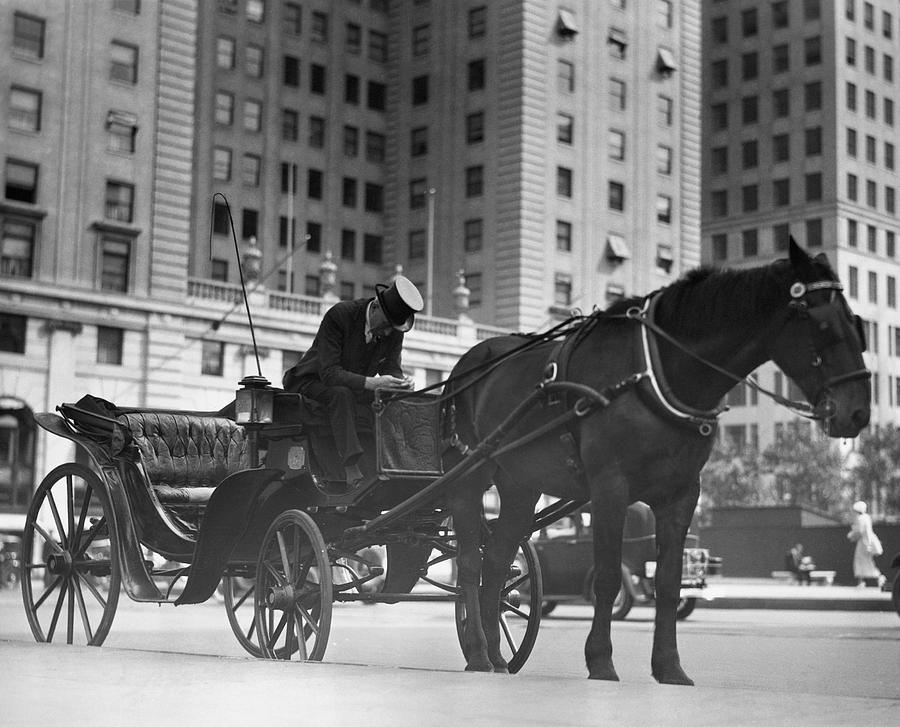 Adults Only Photograph - Horse Drawn Carriage, Nyc by George Marks