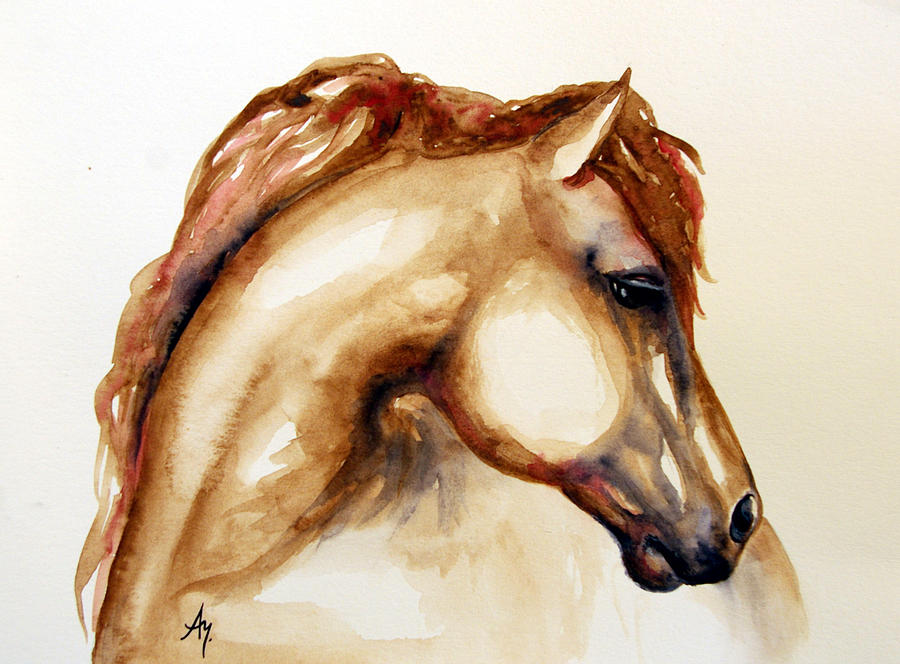 Horse Head 3 Painting by Leyla - 95.1KB
