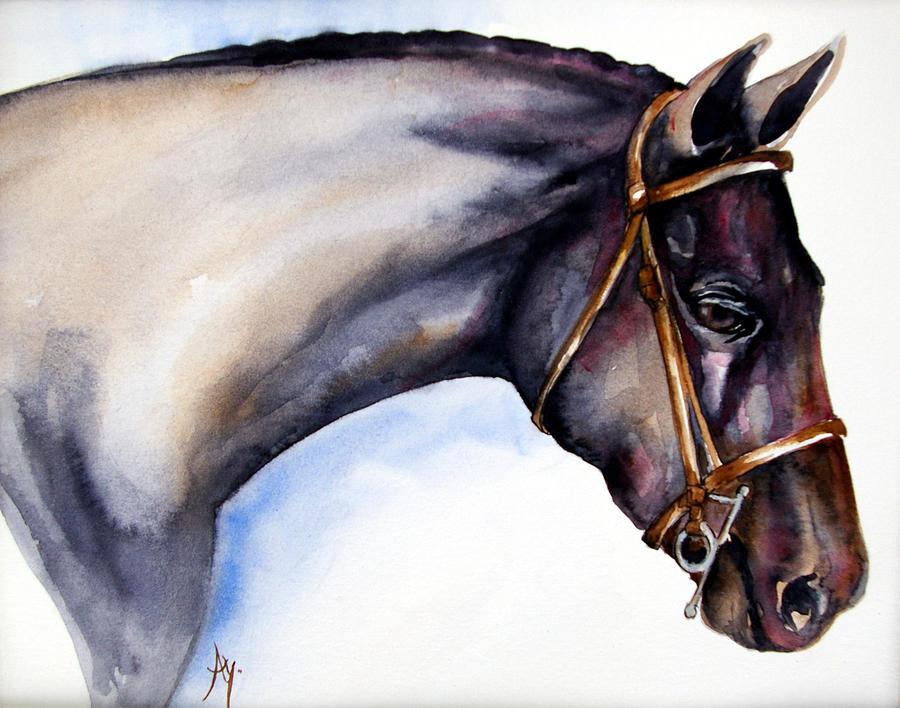Horse Painting - Horse Head 5 by Leyla Munteanu