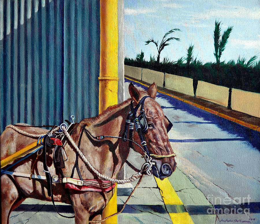Horse Painting - Horse In Malate by Christopher Shellhammer