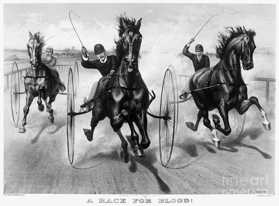 1890 Photograph - Horse Racing, 1890 by Granger
