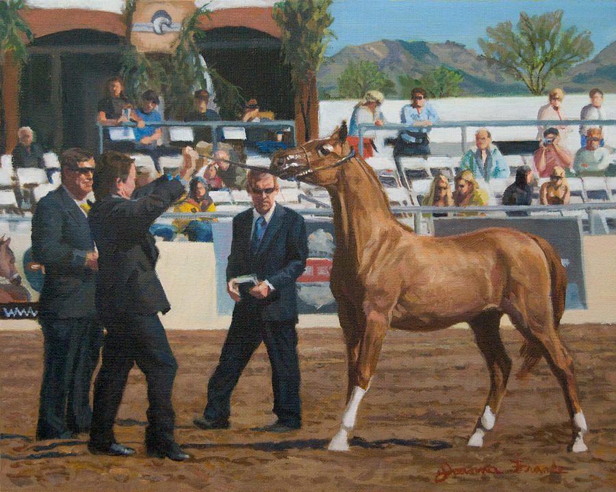 Horse Painting - Horse Show by Joanna Franke