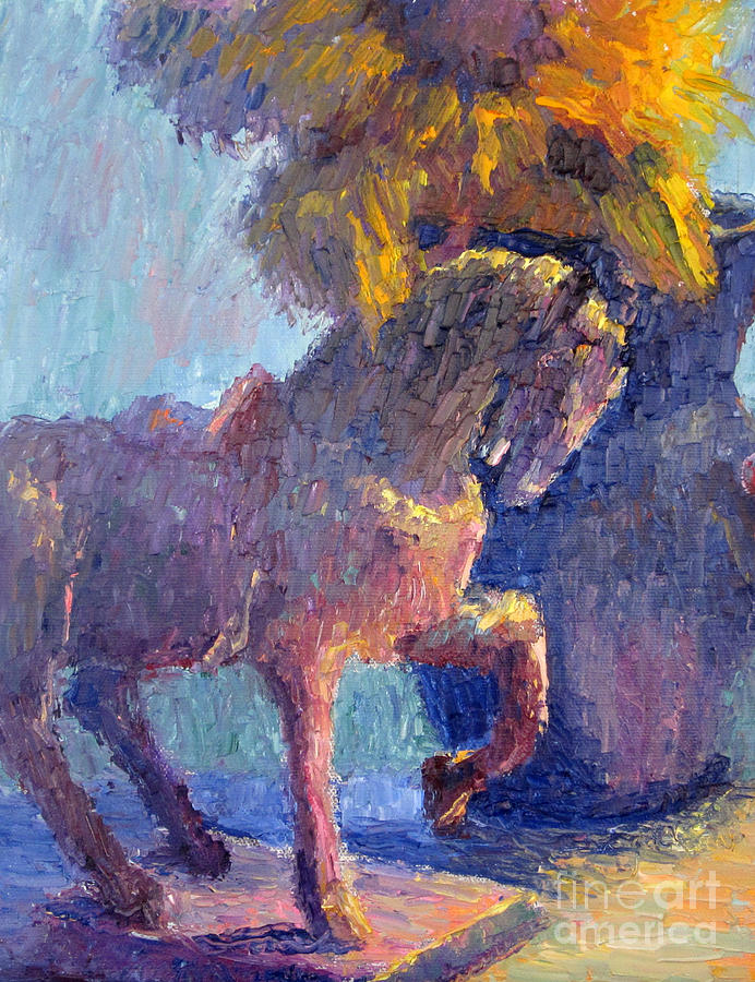 Horse Painting - Horse Statue by Terry  Chacon