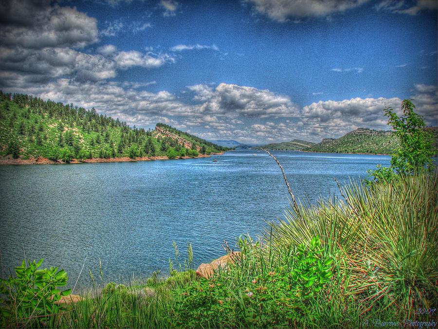 Horsetooth Reservoir Photograph - Horsetooth Reservoir Summer Hdr by Aaron Burrows