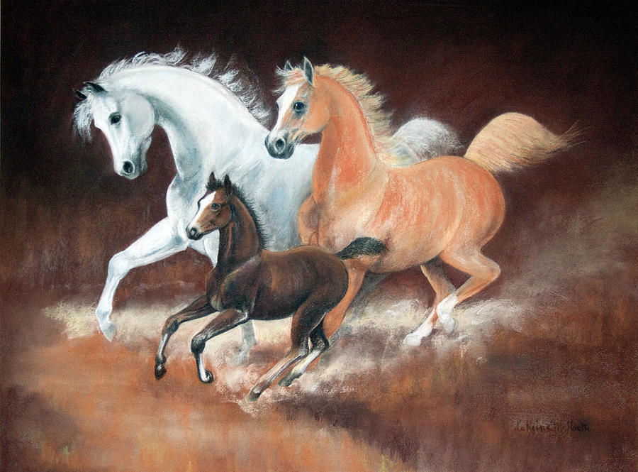 Painting Painting - Horsin Around by Rose McIlrath