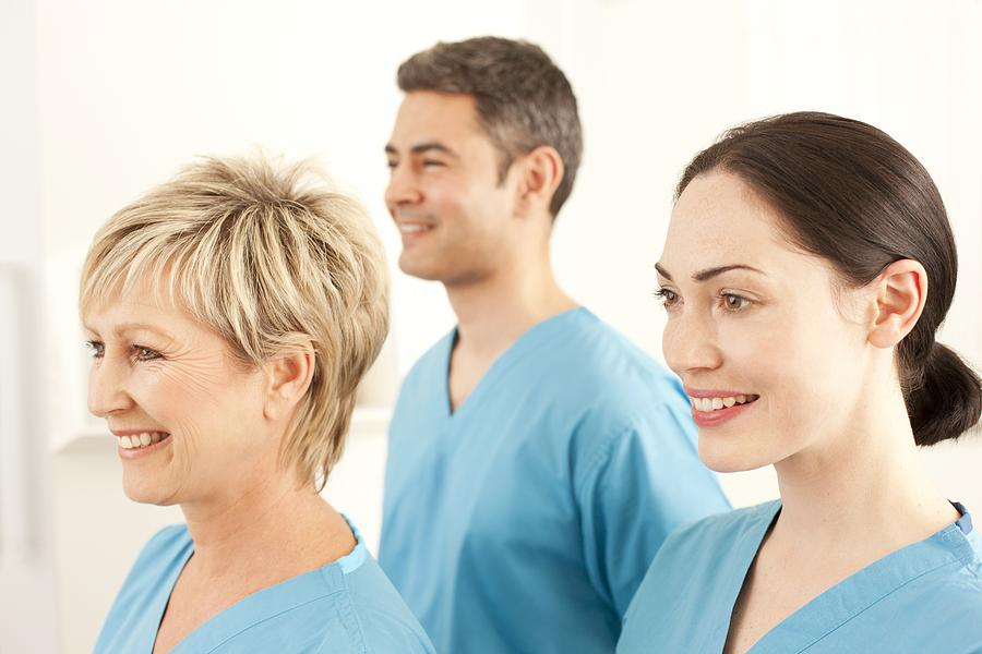 White Background Photograph - Hospital Staff by
