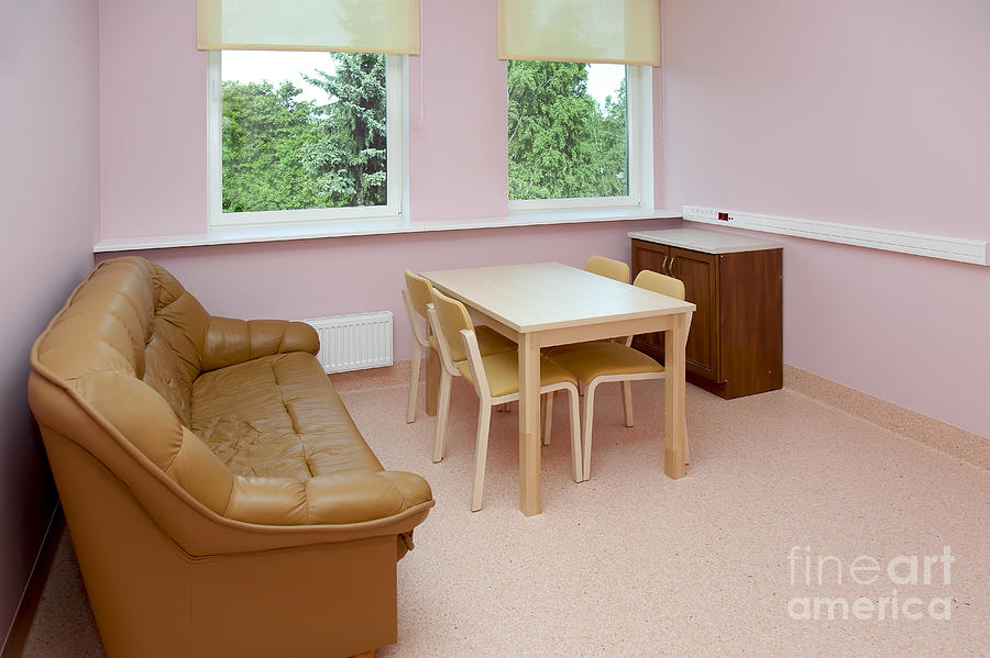 Architectural Detail Photograph - Hospital Waiting Room by Jaak Nilson