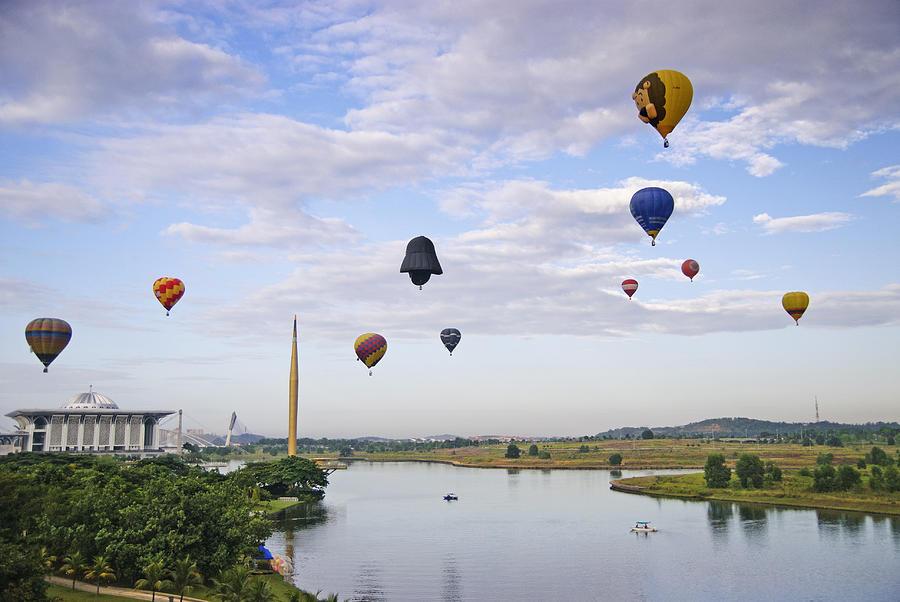 Hot Air Balloon Fiesta Photograph by Virginie Blanquart