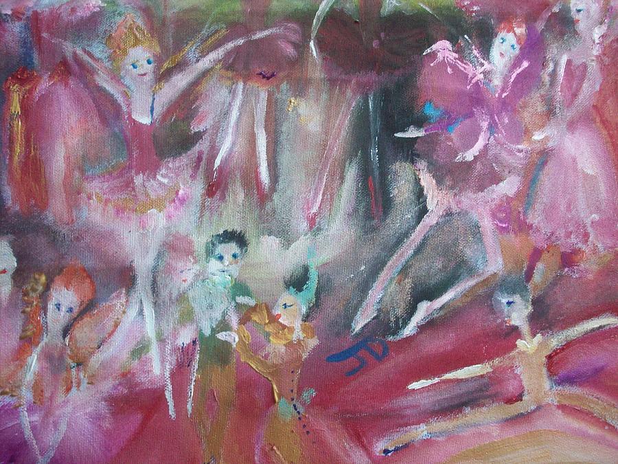 Fairies Painting - Hot  Christmas Fairies by Judith Desrosiers