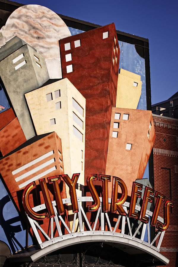 Sign Photograph - Hot City Streets by Joan Carroll