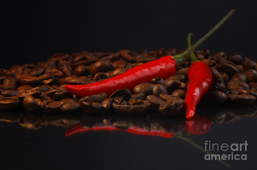Red Photograph - Hot Coffee by Tanja Riedel