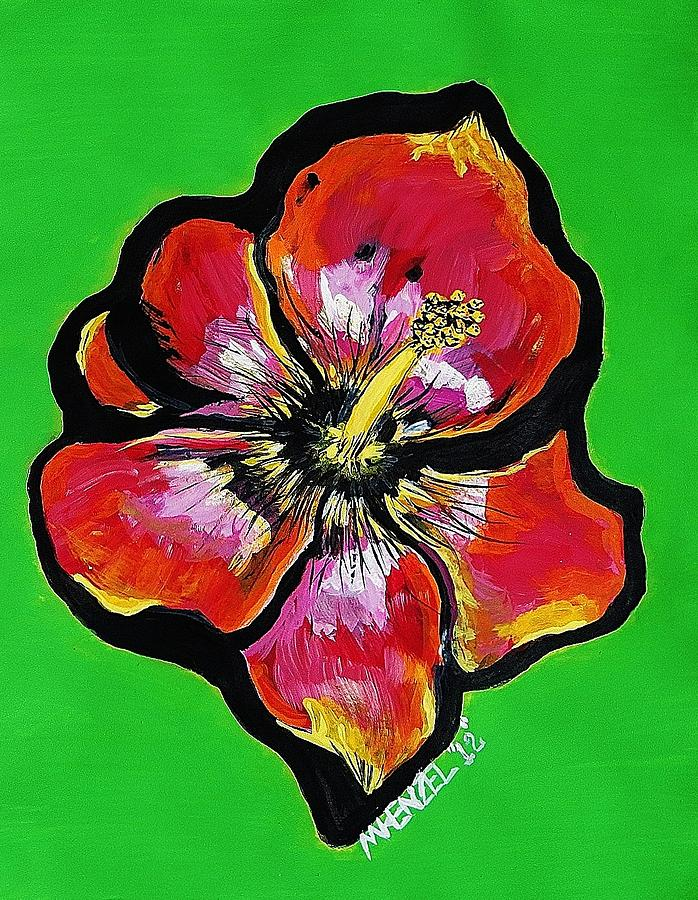 Hibiscus Flowers Painting - Hot Hibiscus by Michael Henzel