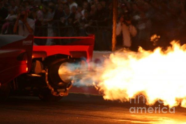Flames Photograph - Hot Rod by Carol Wright