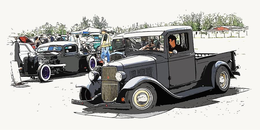 Chopped Photograph - Hot Rod Show Trucks by Steve McKinzie
