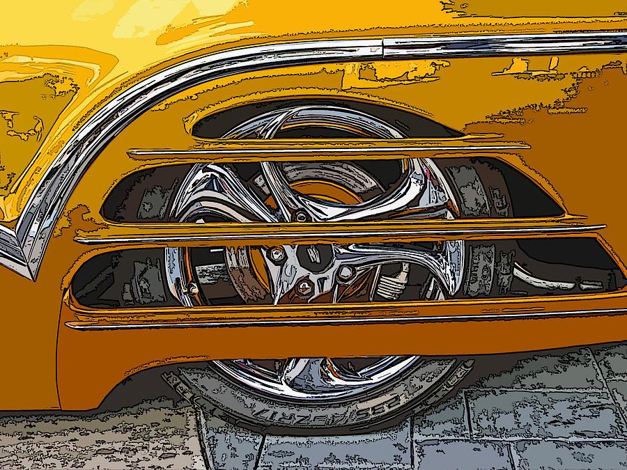 Hot Photograph - Hot Rod Wheel Cover by Samuel Sheats