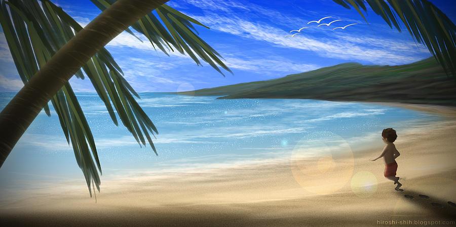 Hiroshi Painting - Hot Summer by Hiroshi Shih