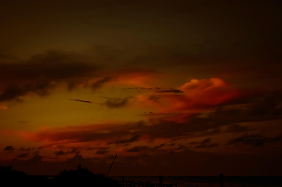 Clouds Photograph - Hot Summer Night Sky by DigiArt Diaries by Vicky B Fuller