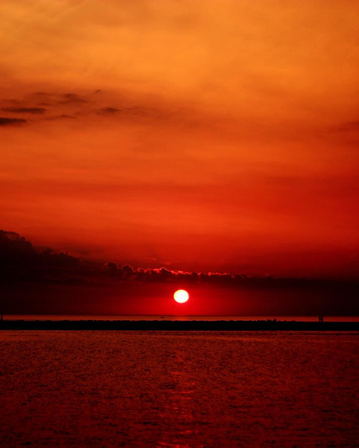 Sunset Photograph - Hot Sunset by Leigh Edwards