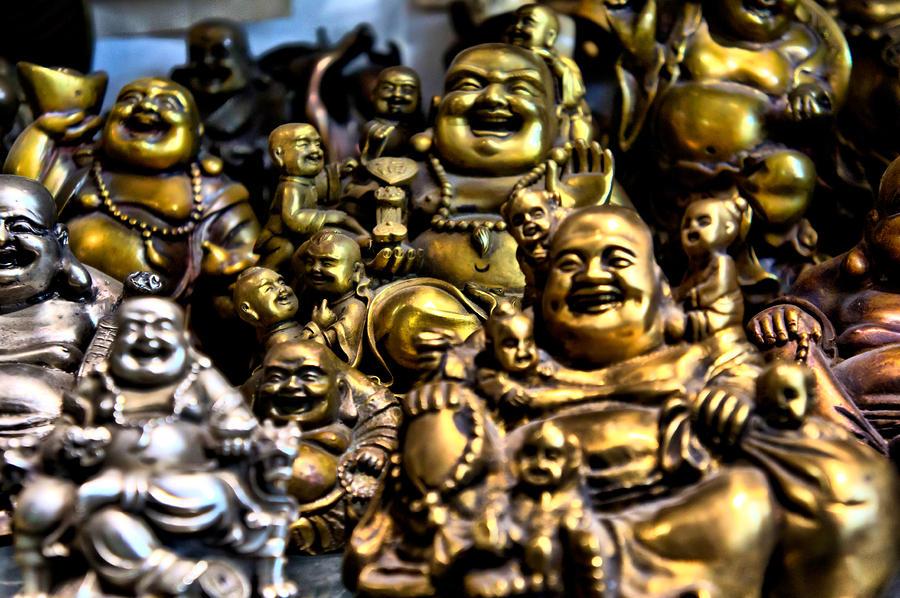 Buddha Photograph - Hotei Gathering by Edward Myers