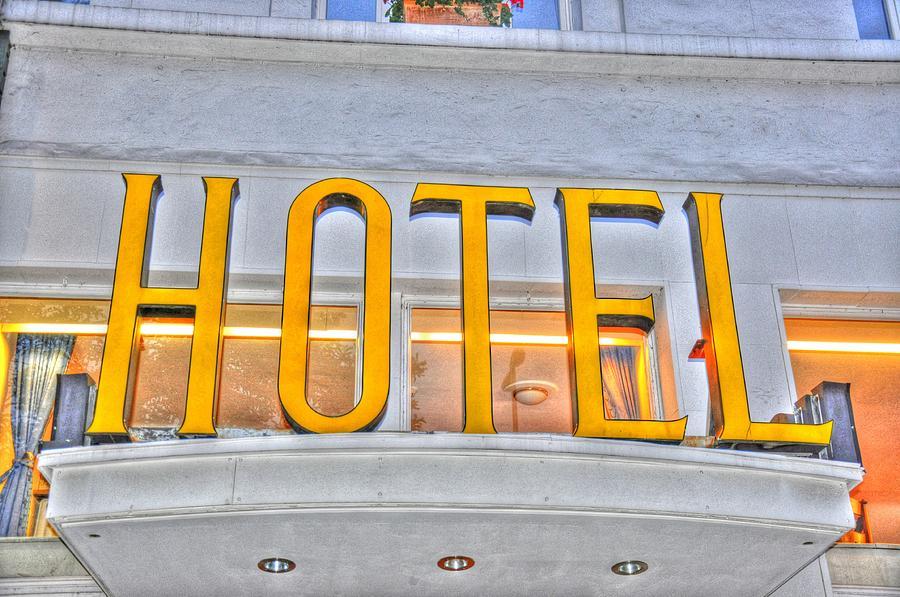Traveling Hamburg European Travel Collection Digital Art - Hotel by Barry R Jones Jr