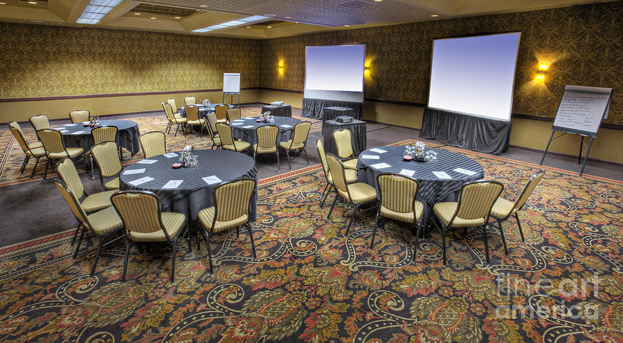 Hotel Conference Room With Tables And Chairs Photograph by ...