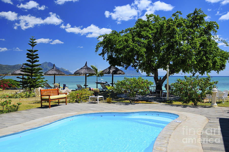 Africa Photograph - Hotel Dream - Mauritius by JH Photo Service