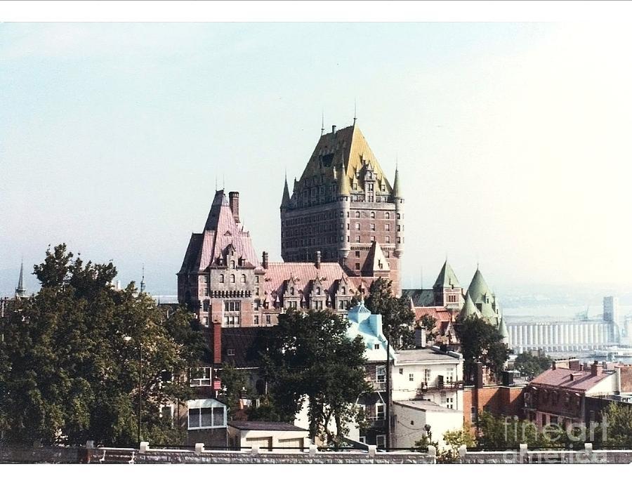 Landmark Hotel Photograph - Hotel Frontenac Quebec Canada by Cedric Hampton