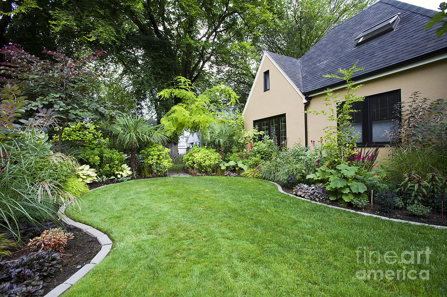 House And Landscaped Yard Photograph By David Buffington