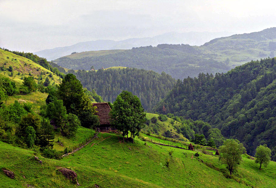 Aged Photograph - House In The Apuseni Mountains by Emanuel Tanjala