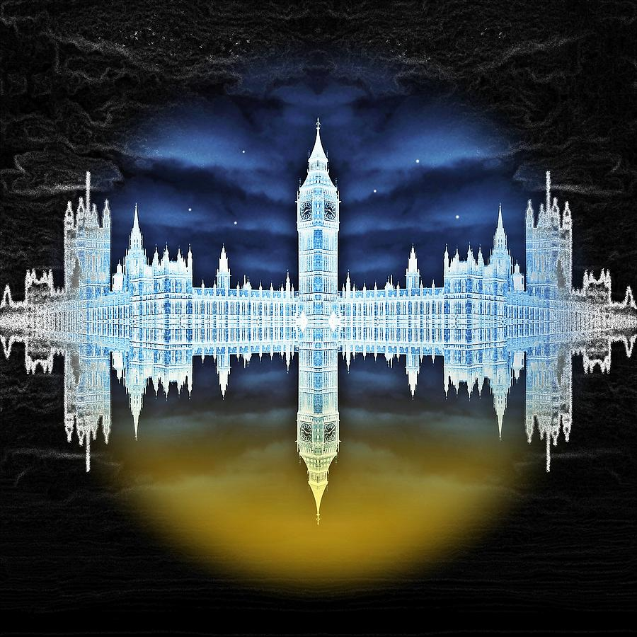 London Digital Art - House Of Horror by Sharon Lisa Clarke