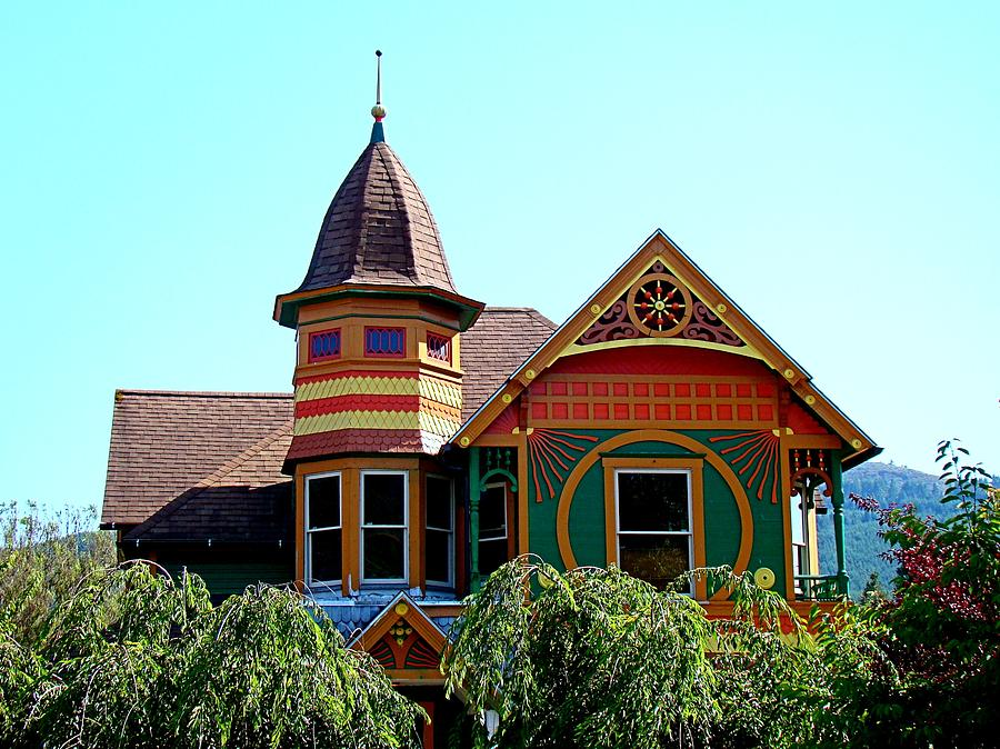 House Photograph - House Of Many Colors by Nick Kloepping