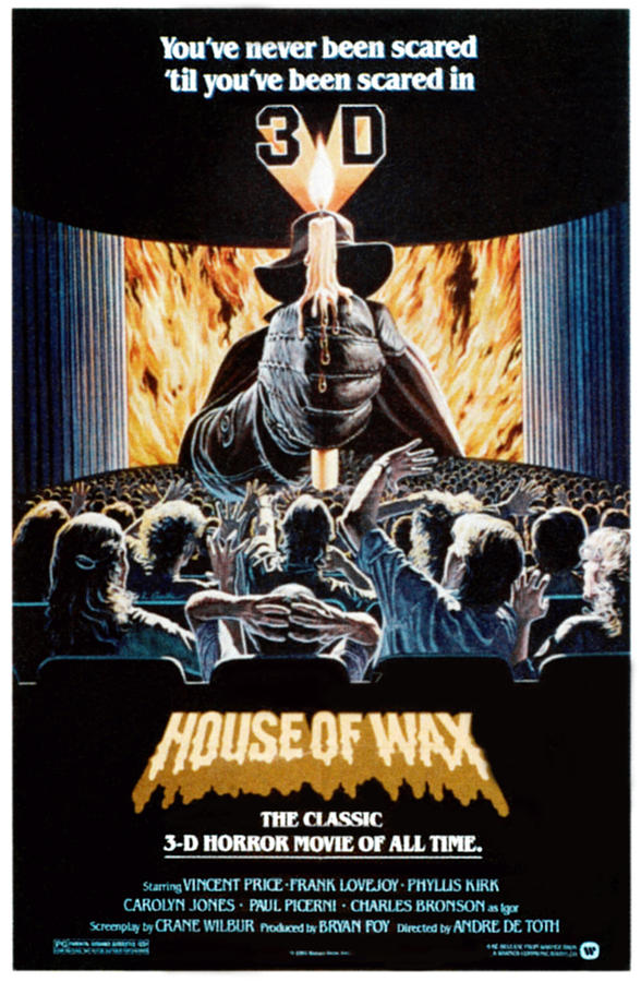 1950s Poster Art Photograph - House Of Wax, Reissue Poster Art, 1953 by Everett