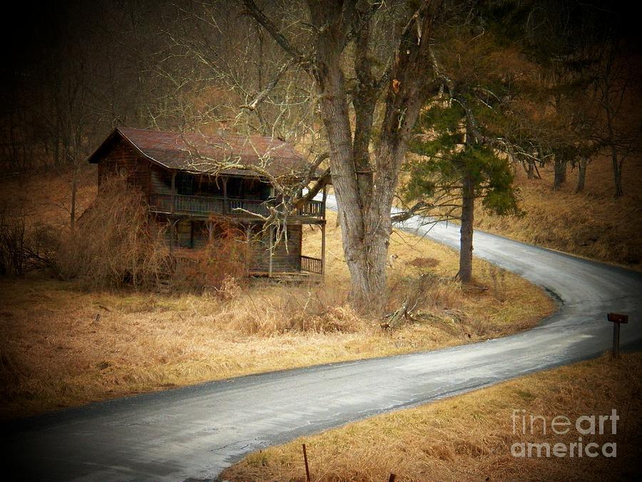 West Virginia Photograph - House On A Curve by Joyce Kimble Smith