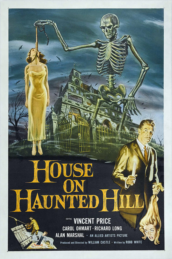 1959 Movies Photograph - House On Haunted Hill, Alternate Poster by Everett