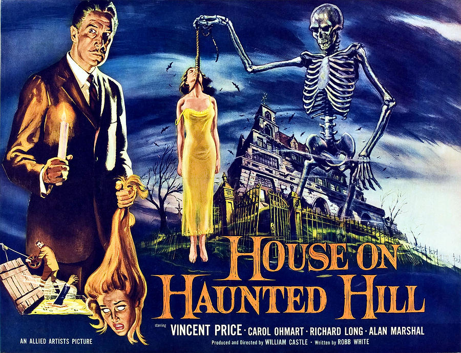 1950s Poster Art Photograph - House On Haunted Hill, Left Vincent by Everett