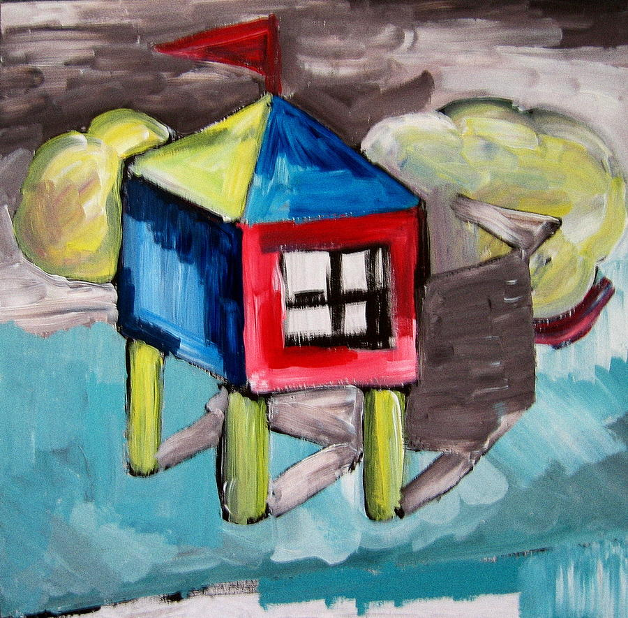 House Painting - House On Stilts by Robert Bruce