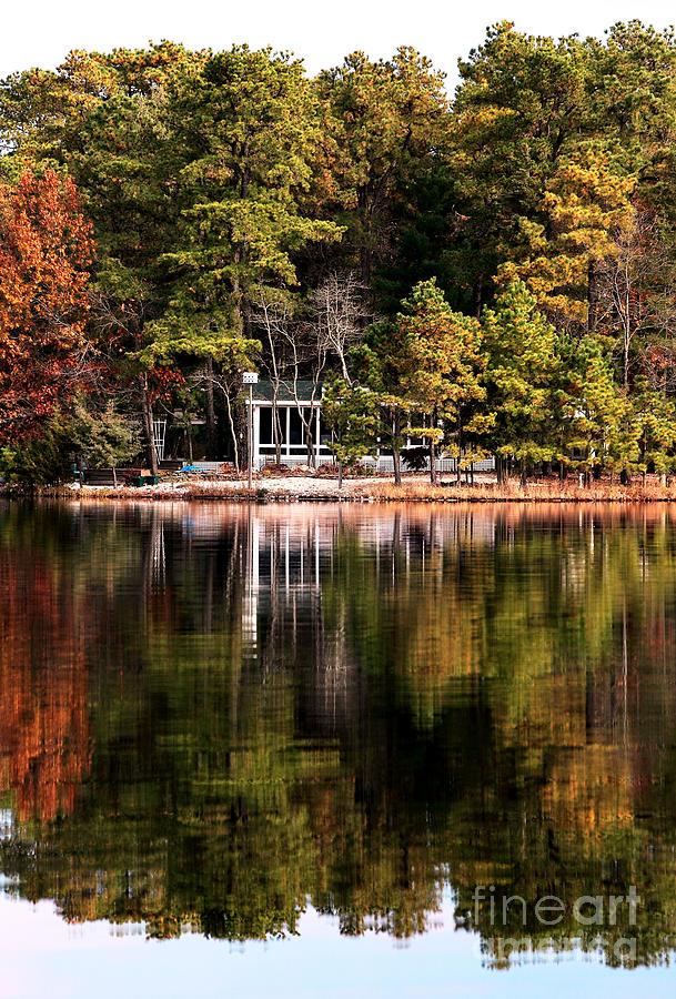 Lake Photograph - House On The Lake by John Rizzuto