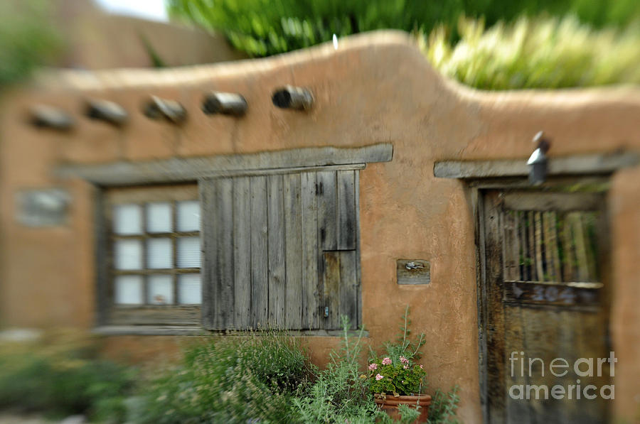 Adobe Photograph - House With A View by Tamera James