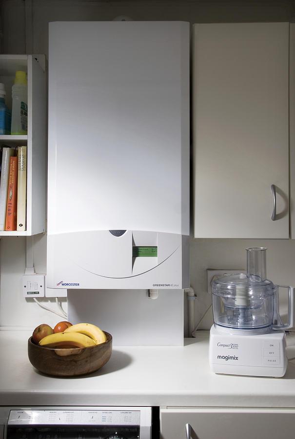 Gas Boiler Photograph - Household Boiler by Sheila Terry