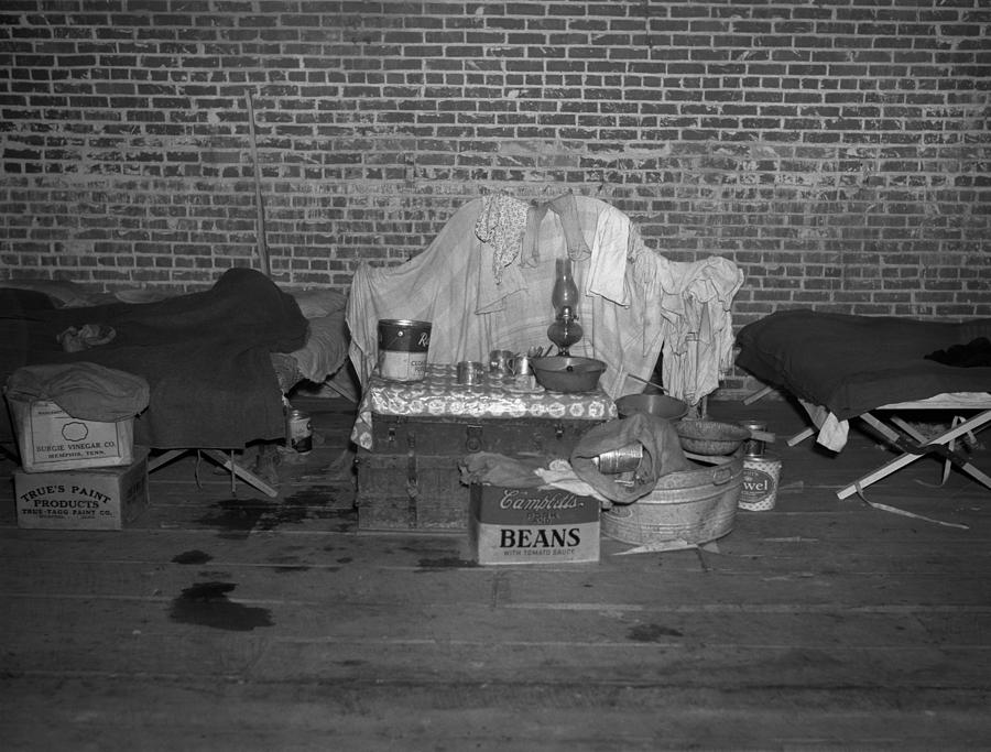 1930s Candid Photograph - Household Goods Saved From A Flood by Everett