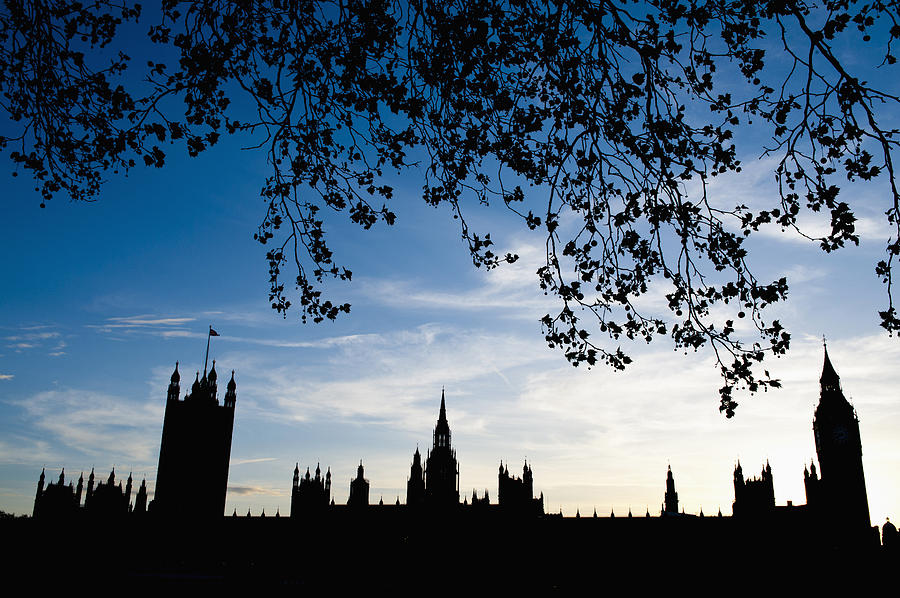 Bankside Photograph - Houses Of Parliament Silhouette by Axiom Photographic