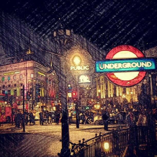 People Photograph - How London Looks Like At Night? May by Abdelrahman Alawwad
