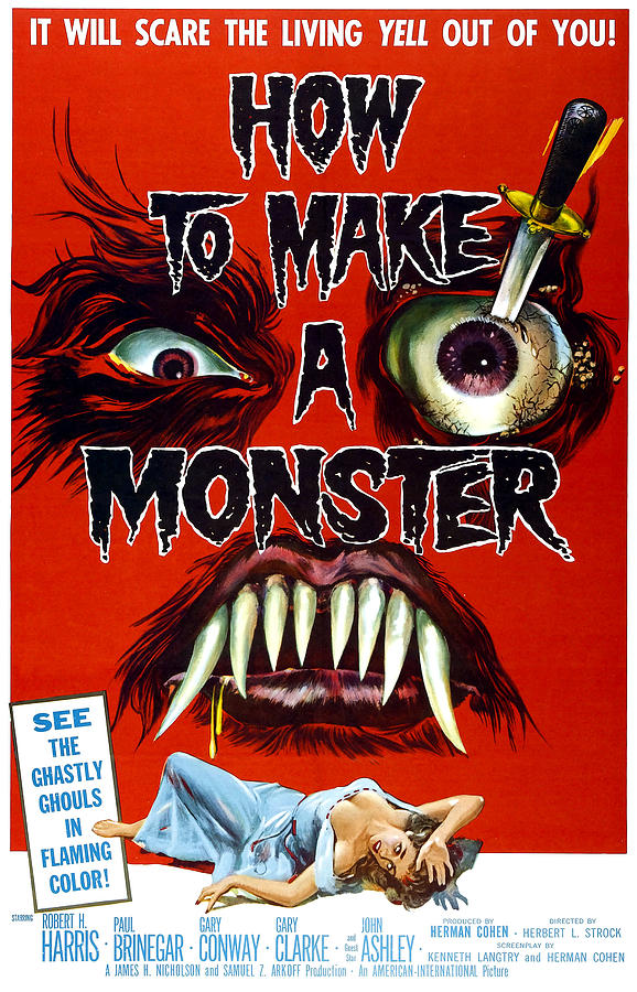 Eyeball Photograph - How To Make A Monster, 1-sheet Poster by Everett