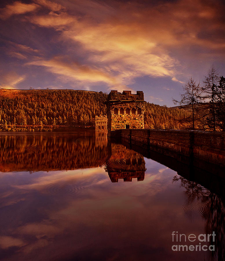 Howden Reservoir Photograph - Howden Reflections by Nigel Hatton